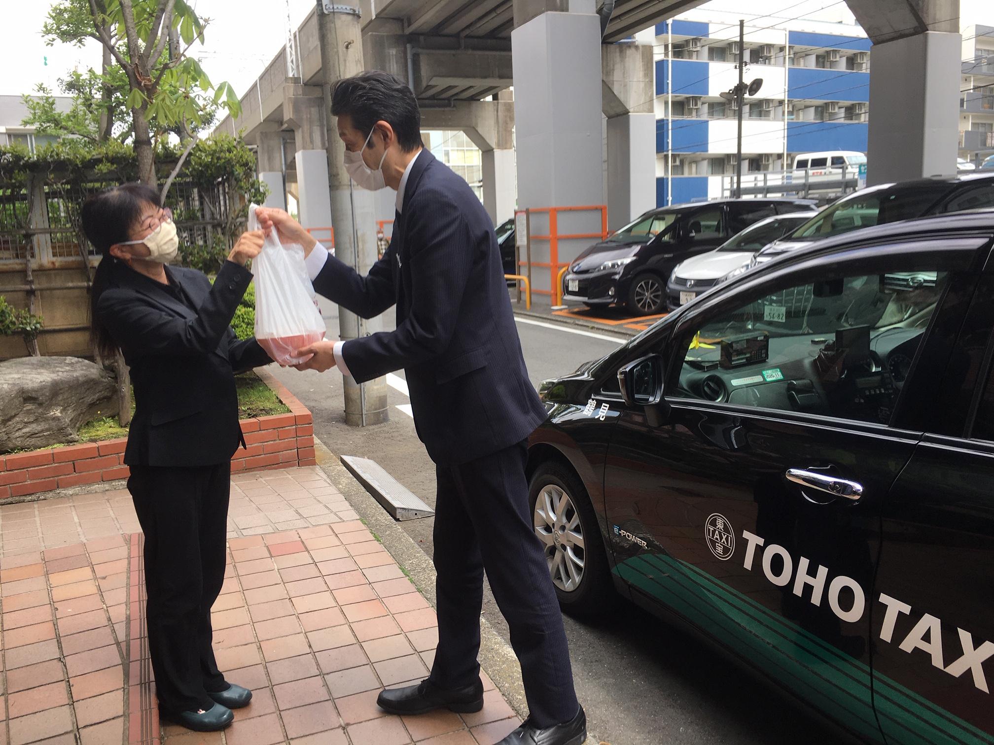 【絶賛配達中!】#うちメシ応援プロジェクトのタクシーデリバリー